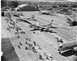 Planes at Boeing open house in Renton, August 17, 1956