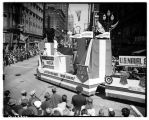 U.S. Navy float in Independence Day parade, July 4, 1945