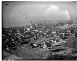 View of Seattle with the Yesler Terrace housing project, December 1941