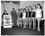 Women in swimsuits publicizing Republican party picnic, August  1959