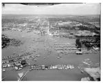 Boating season opening day parade, looking north, Seattle, May 2, 1958