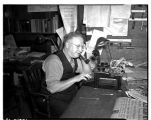 Raymond Holmes, Seattle Post-Intelligencer librarian, ca. June  1940