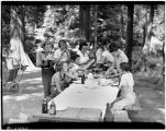 Group at a picnic in a West Seattle park, August 1937