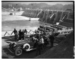 President Franklin D. Roosevelt visiting Bonneville Dam, September 1937