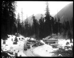 Camp Mason tourist facilities at Snoqualmie Pass, ca. 1925