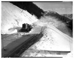 Snow removal on the Snoqualmie Pass Highway, April 1948