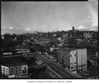 View northeast from King Street Station tower, Seattle, April 7, 1930