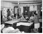 Group of women working in the Thrift Shop at Tulalip Indian Reservation Community Hall, 1962