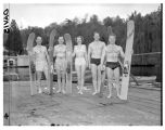 Water skiers on dock, April 28, 1948