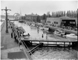 Boats in the Lake Washington Ship Canal locks, July 10, 1955