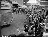 Japanese Americans leaving Camp Harmony for internment, August  1942