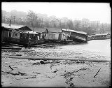 Houseboat damage on Lake Union,  1914