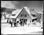 Skiers at the Stevens Pass ski lodge, January 7, 1949
