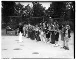 Children in tennis class, June 1939