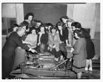 Young women in war workers class, February 1943