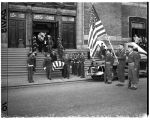 Funeral service for Japanese American serviceman, June 1948