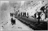 Great Northern Railway Company, laying last rail on main line, December 10, 1892