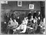 Third year physics class at Seattle High School, June 10, 1898
