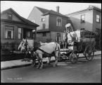 Horsedrawn garbage wagon, October 28, 1915