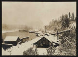 Port Blakely planing mill in snow, January 1880
