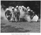 Air raid wardens in drill, Seattle, August 1942