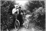 Two women on bicycles, August 24, 1898