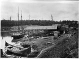 Ballard Boat Works on Salmon Bay, 1918
