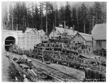 Great Northern Railway pioneer tunnel breakthrough, May 1, 1928