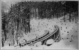 Great Northern Railway, heavy snow on bridges, ca. 1892