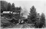 Train at depot, Franklin, Washington, ca. 1890