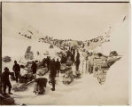 People and goods ready to start over Chilkoot Pass, ca. 1898