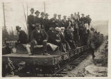 First train to Bennett at Log Cabin, B.C., July 6, 1899