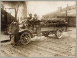 Hullin Transfer Company truck loaded with turnips, ca. 1915