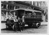 Seattle City Light workers and truck, ca. 1915