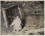 Man using pneumatic drill in Issaquah mine, ca. 1915