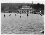 Bathhouse at Juanita Beach on the shore of Lake Washington, ca. 1935