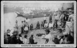 Indians gambling on Puget Suund beach, ca. 1884