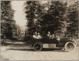 1917 Cadillac on a Washington road, ca. 1917