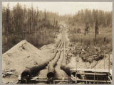 Water supply pipes leading out of Lake Youngs reservoir, March 21, 1925