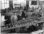 Men assembling wooden wings at Boeing Airplane Company, 1922