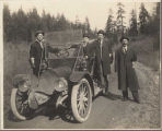 Franklin automobile in rural King County, Washington, 1910