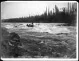 Klondikers shooting White Horse Rapids, 1898