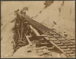 Icy tracks on the White Pass & Yukon Route, ca. 1899