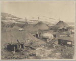 Cabins and mining activities near Nome, ca. 1905
