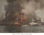 Grand Trunk Dock fire, Seattle, July 30, 1914