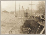 New steel water main under Second Avenue in Renton, February 23, 1923