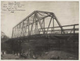 Steel bridge over White River near Kent, Washington, ca. 1911