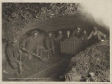 People in a Nome gold mine, ca. 1903