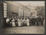 Employees of the Kirkland woolen mill, ca. 1900