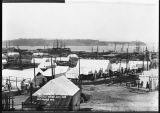 Tents at the waterfront after the Great Fire, July 1889